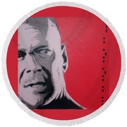 Bruce Willis Round Beach Towel