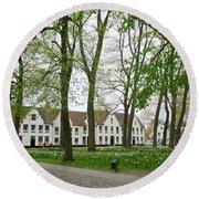 Bruges Begijnhof 1 Round Beach Towel