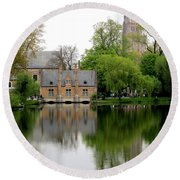 Bruges Minnewater 5 Round Beach Towel