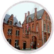 Bruges Sashuis 5 Round Beach Towel