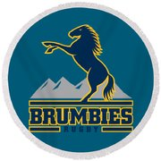 Brumbies Rugby Round Beach Towel