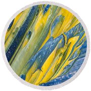 Brush Stroke Detail 8066 Round Beach Towel