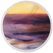 Brushed 6 - Vertical Sunset Round Beach Towel
