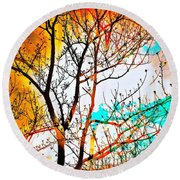 Brushfire Round Beach Towel