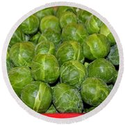 Brussel Sprouts Round Beach Towel