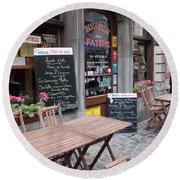 Brussels - Restaurant Chez Patrick Round Beach Towel