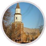 Bruton Parish Episcopal Church Round Beach Towel