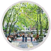 Bryant Park Nyc Round Beach Towel