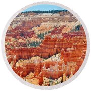 Bryce Canyon Fairyland Point Round Beach Towel