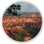Bryce Canyon II Round Beach Towel