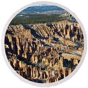 Bryce Canyon In The Evening Round Beach Towel
