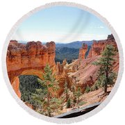 Bryce Canyon Natural Bridge - Utah Round Beach Towel