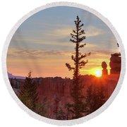 Bryce Canyon Sunrise Round Beach Towel