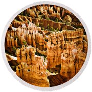 Bryce Canyon Vertical Image Round Beach Towel