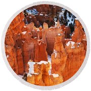 Bryce Canyon Winter 1 Round Beach Towel