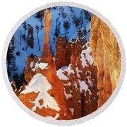 Bryce Canyon Winter 4 Round Beach Towel