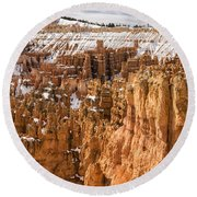 Bryce Canyon Winter Panorama - Bryce Canyon National Park - Utah Round Beach Towel