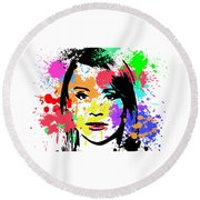 Bryce Dallas Howard Pop Art Round Beach Towel