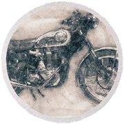 Bsa Gold Star - 1938 - Motorcycle Poster - Automotive Art Round Beach Towel