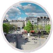 Georges Pompidou Square Round Beach Towel