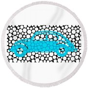 Bubble Car Vw Beetle Round Beach Towel
