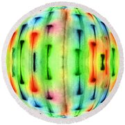 Bubble Lights Round Beach Towel