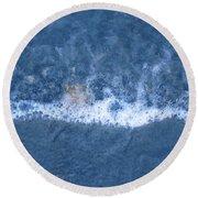 Bubble Lines Round Beach Towel