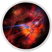 Bubble Nebula Round Beach Towel