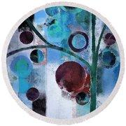Bubble Tree - 055058167-86a7b2 Round Beach Towel
