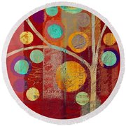 Bubble Tree - 85lc13-j678888 Round Beach Towel
