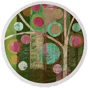 Bubble Tree - 85lc16-j678888 Round Beach Towel