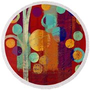 Bubble Tree - 85rc13-j678888 Round Beach Towel