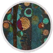 Bubble Tree - Spc02bt05 - Right Round Beach Towel by Variance Collections