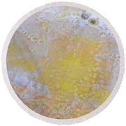 3. Bubble Yellow And White Glaze Painting Round Beach Towel