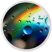 Bubbles Abstract Round Beach Towel