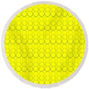 Bubbles All Over The Place 19 Round Beach Towel