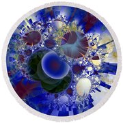 Bubbles Concentrated Round Beach Towel