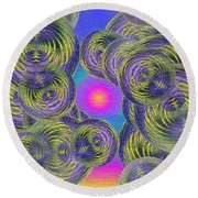 Bubbles In The Mist Round Beach Towel