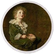 Bubbles Round Beach Towel by Sir John Everett Millais