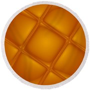 Bubbling Amber Round Beach Towel