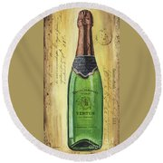 Bubbly Champagne 2 Round Beach Towel