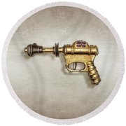 Buck Rogers Ray Gun Round Beach Towel