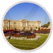 Buckingham Palace, London, Uk. Round Beach Towel