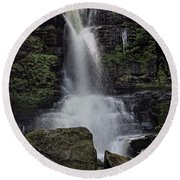 Bucks Falls Pa Round Beach Towel