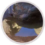 Buckskin Gulch Reflection Round Beach Towel