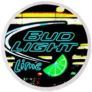 Bud Light Lime Tweeked Round Beach Towel