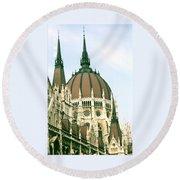 Budapest Parliment Round Beach Towel
