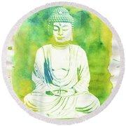 Buddha By Raphael Terra Round Beach Towel