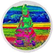 Buddha Dreaming Round Beach Towel