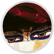 Buddha Eyes Round Beach Towel